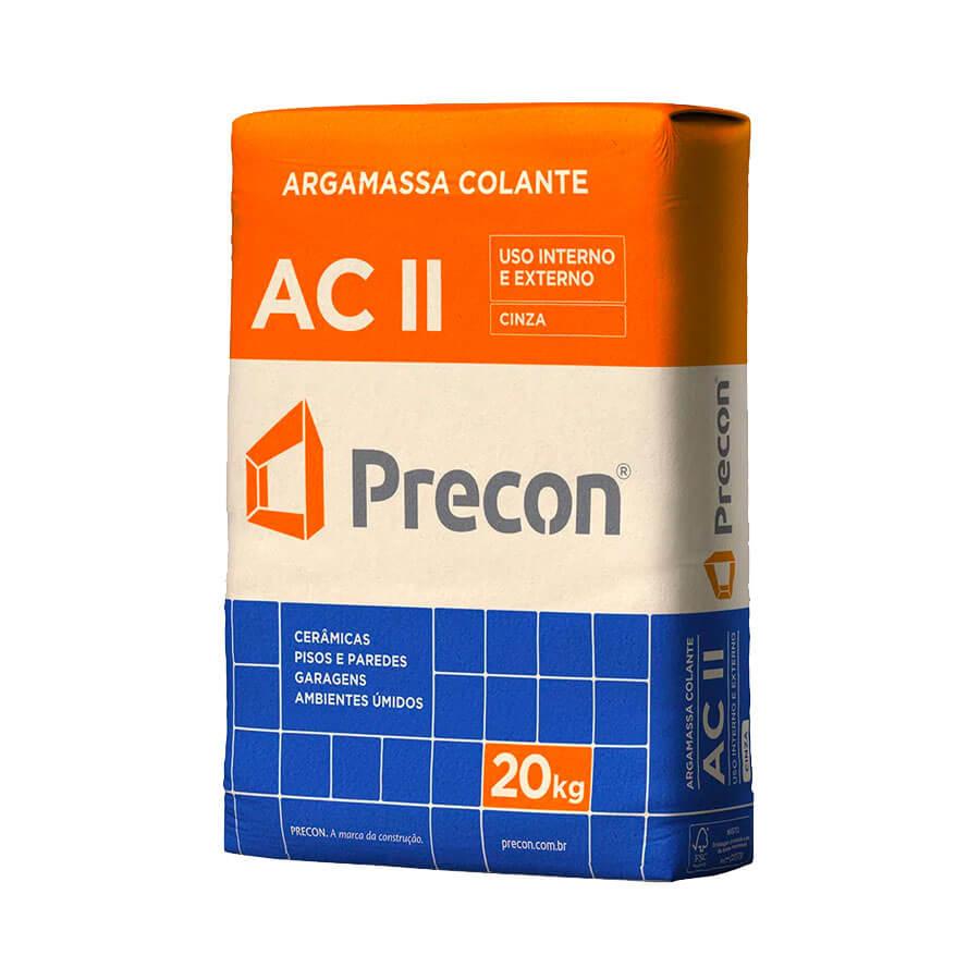Argamassa AC II Cinza 20kg – Precon - Santa Cruz Acabamentos