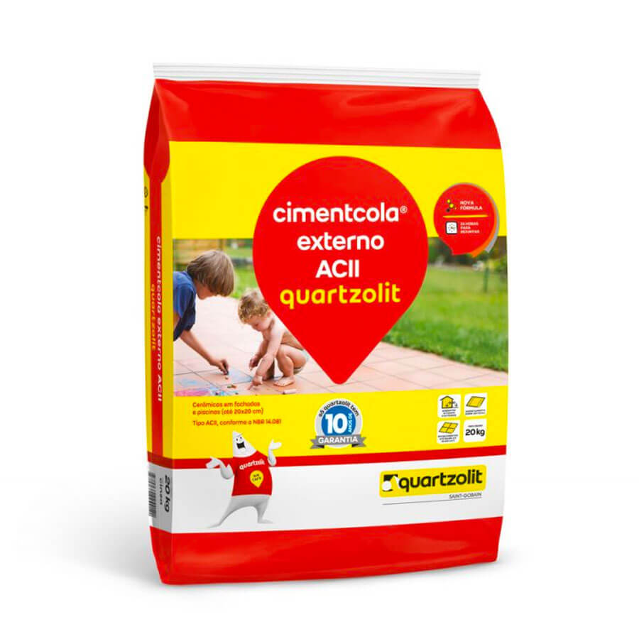 Argamassa AC II Cinza Interno / Externo 20kg – Quartzolit - Santa Cruz Acabamentos