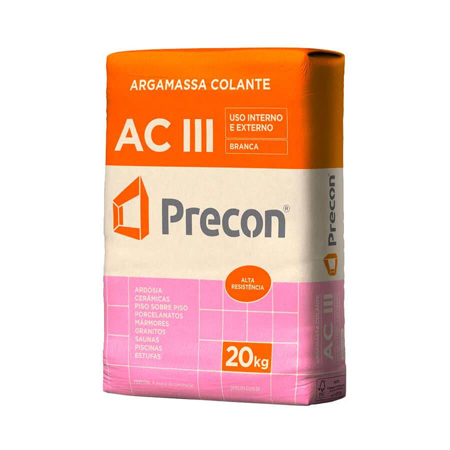 Argamassa AC III Branco 20kg – Precon - Santa Cruz Acabamentos
