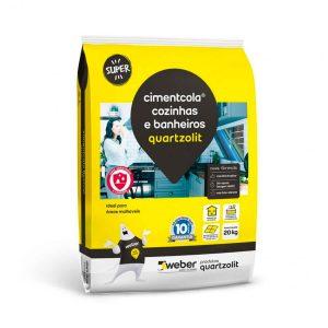 Argamassa Cozinhas e Banheiros Cinza 20kg - Quartzolit