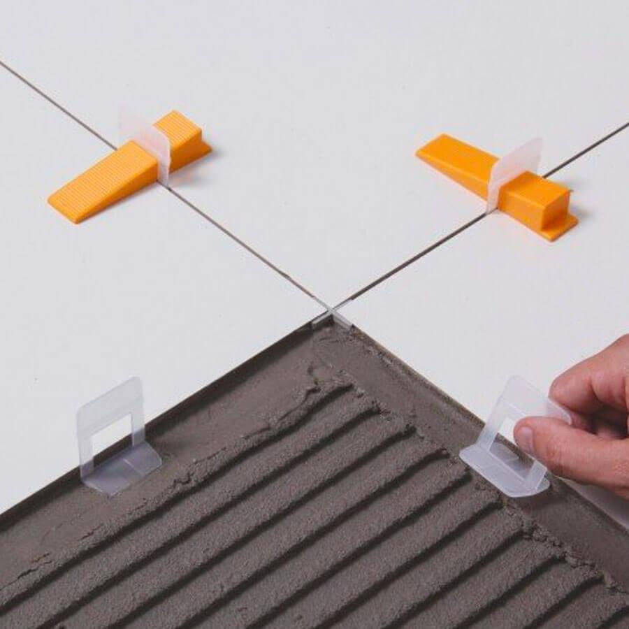 Espaçador de Plástico para Nivelamento 1,0mm Branco – Cortag - Santa Cruz Acabamentos