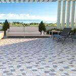 Piso Antideslizante Pedra Branco/Cinza HD 57084 57×57 Extra – Bellacer - Santa Cruz Acabamentos