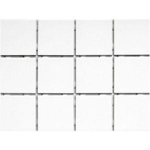 Piso White Branco Brilhante Telado Antipichação 1095 10x10 Extra - Strufaldi