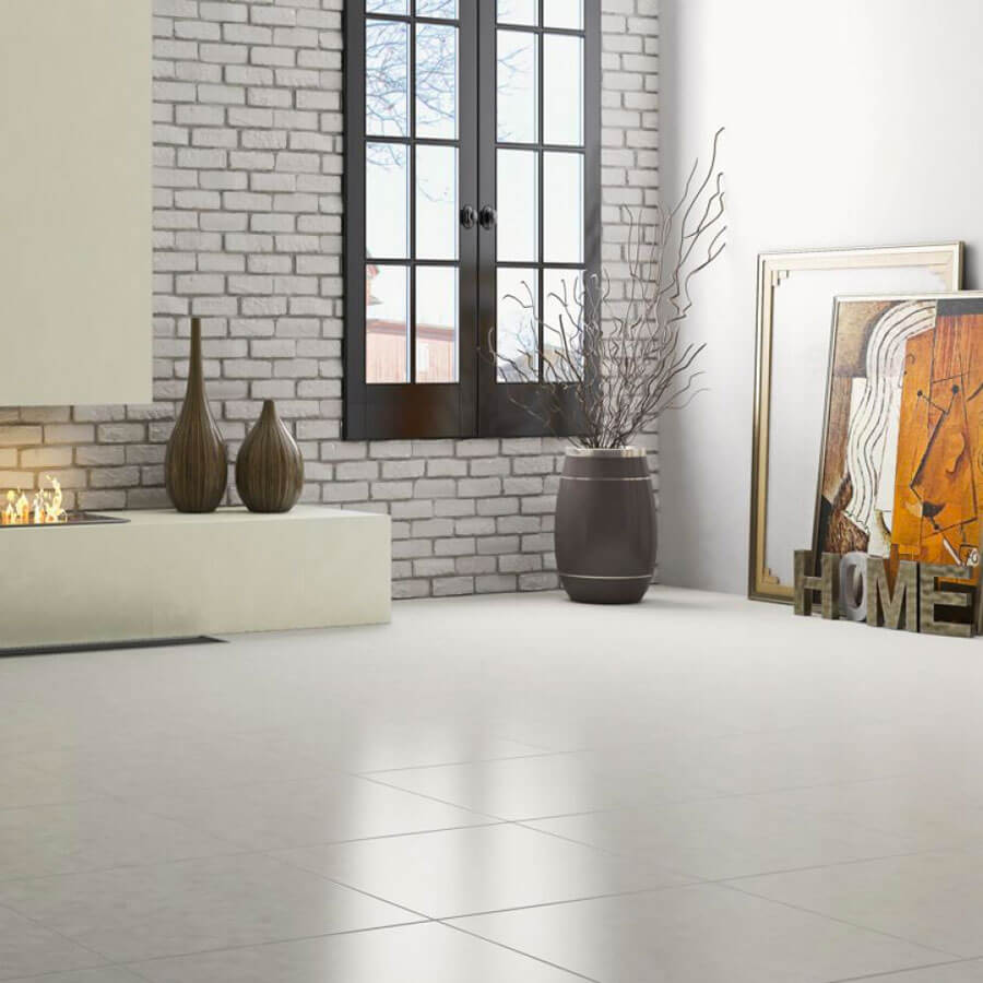 Porcelanato Acetinado Sansevieria Silver PHD52060R 52,5×52,5 Extra – Incefra - Santa Cruz Acabamentos