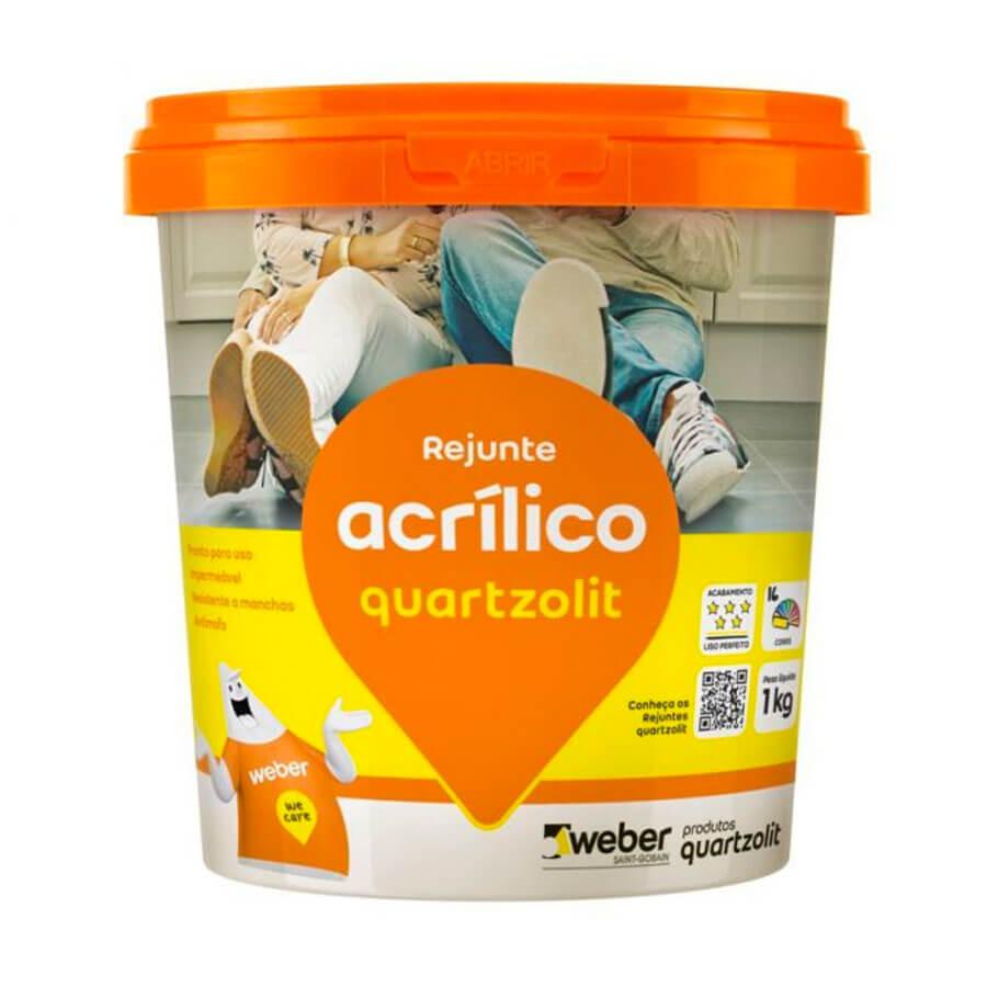 Rejunte Acrílico Branco 1kg – Quartzolit - Santa Cruz Acabamentos