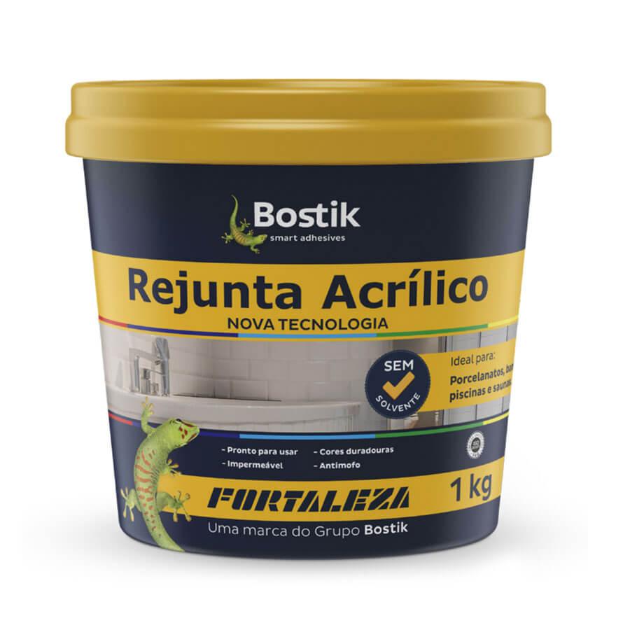 Rejunte Acrílico Interno/Externo Branco 1kg – Fortaleza - Santa Cruz Acabamentos