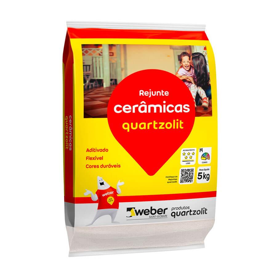 Rejunte Flexível Branco 5kg – Quartzolit - Santa Cruz Acabamentos