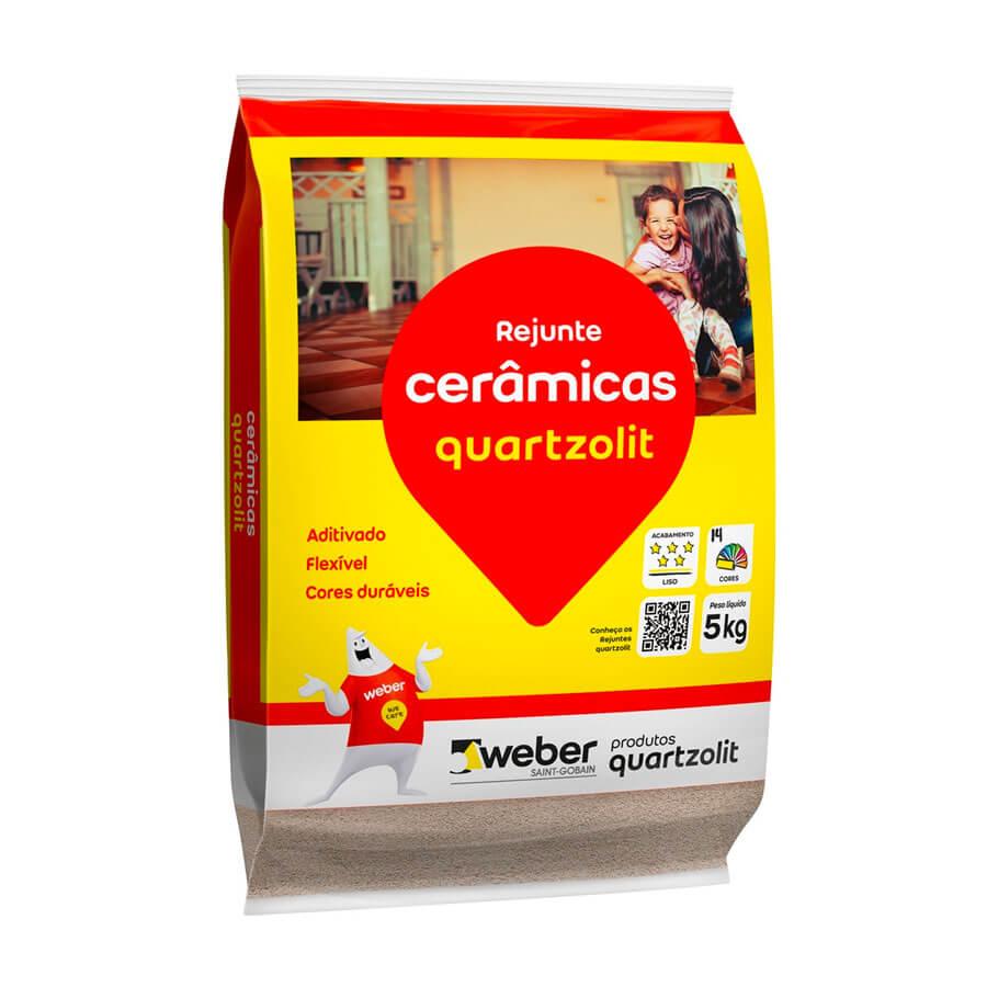 Rejunte Flexível Cinza Outono 5kg – Quartzolit - Santa Cruz Acabamentos