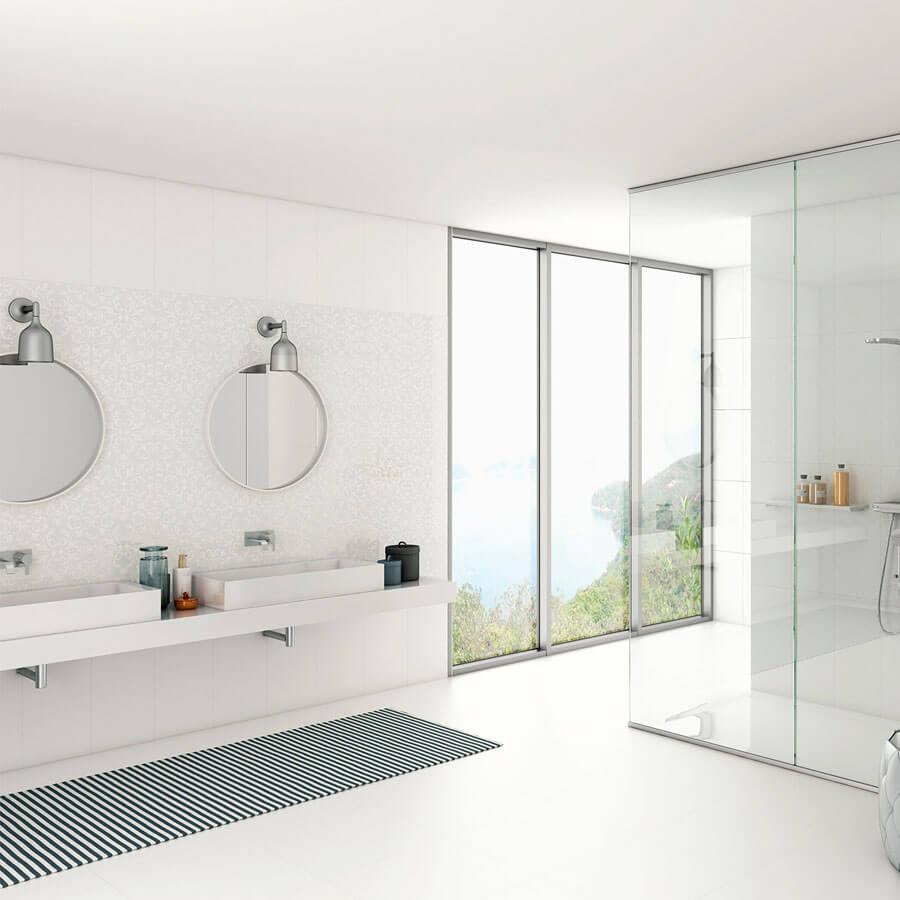 Revestimento para Parede Retificado Monoporosa Classic White 31×58 Extra BR31000 – ViaRosa - Santa Cruz Acabamentos