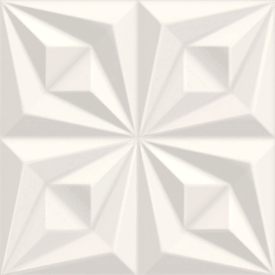 Revestimento para Parede Drapeado Branco 66071 58×58 Extra – Ceusa - Santa Cruz Acabamentos