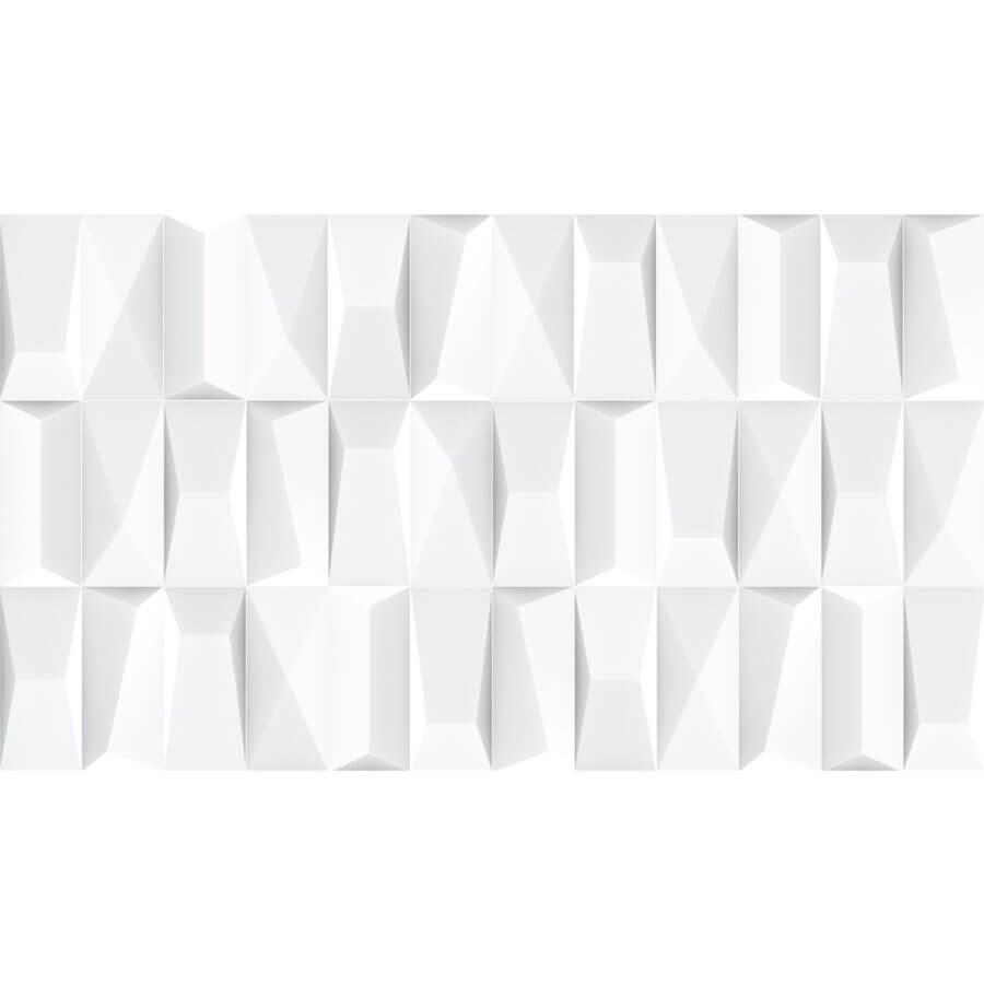 Revestimento para Paredes Brilhante com Relevo Branco 60163 32×57 Extra – Incopiso - Santa Cruz Acabamentos