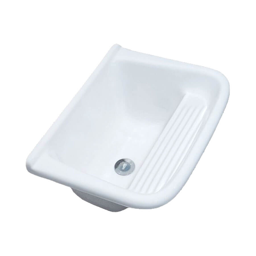 Tanque Simples Mármore Sintético Branco TP001 33L 60×50 – Decoralita - Santa Cruz Acabamentos