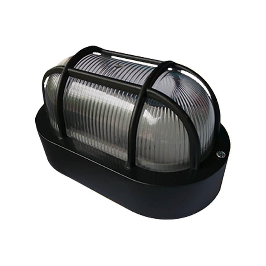 Arandela Tartaruga para 1 Lâmpada E27 4015 Preta – Ideal - Santa Cruz Acabamentos