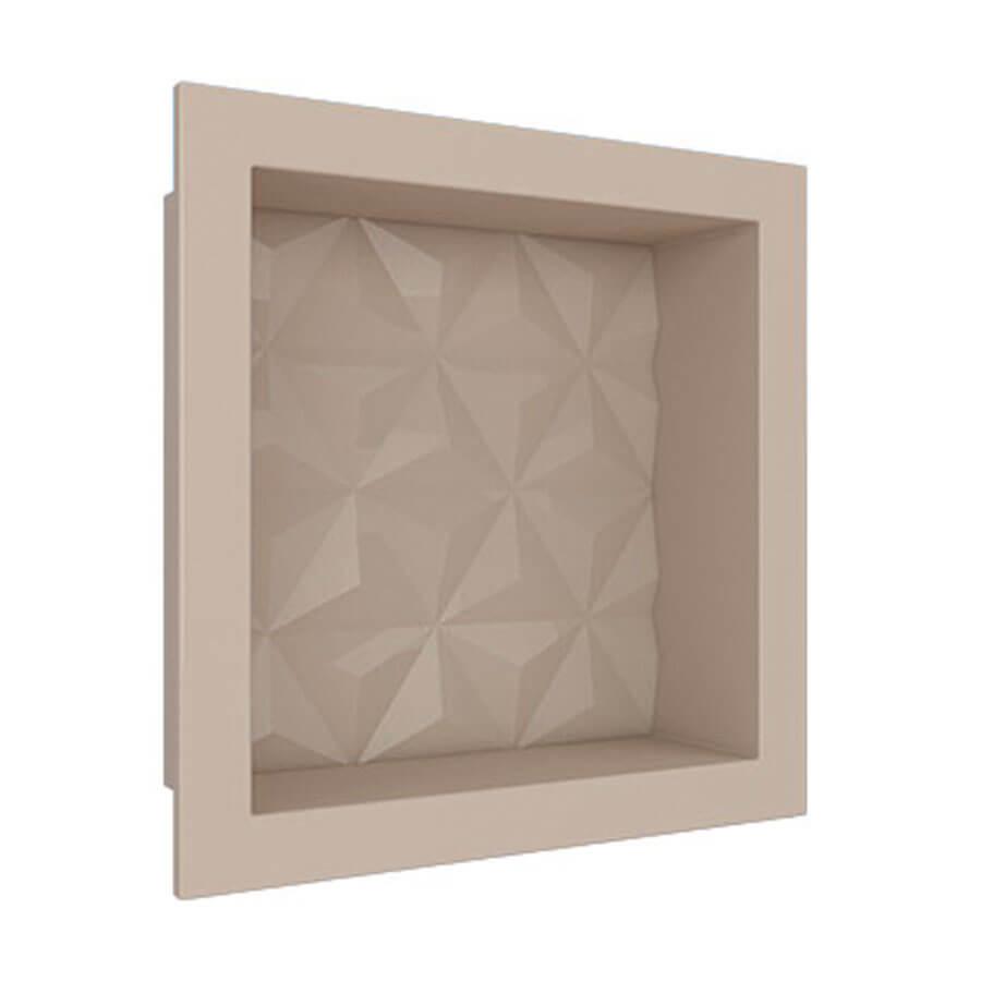 Nicho Texturizado Mármore Sintético 3D 89976 30×30 Bege – Cozimax - Santa Cruz Acabamentos
