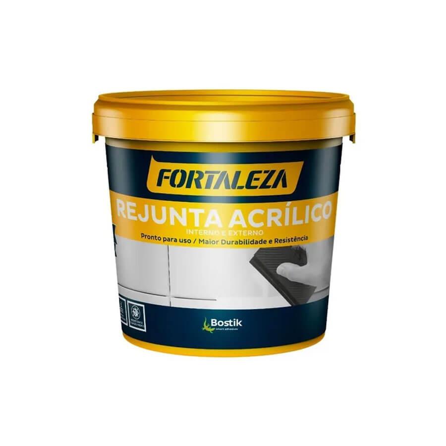 Rejunte Acrílico Platina Interior/Exterior 1kg – Fortaleza - Santa Cruz Acabamentos
