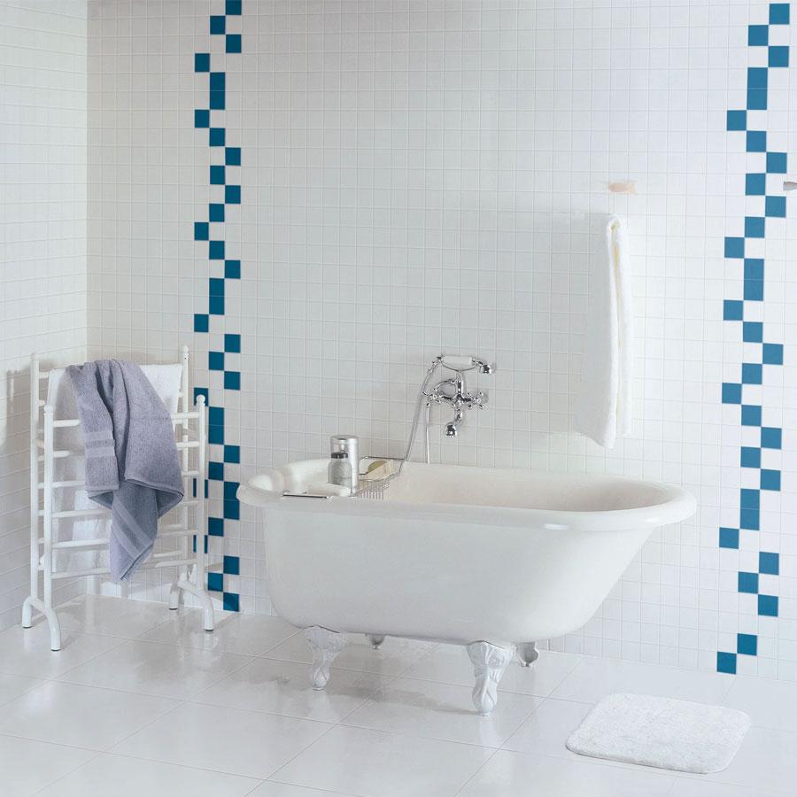 Revestimento de Parede Bold 7,3×7,3cm Prisma Bianco – Portobello - Santa Cruz Acabamentos