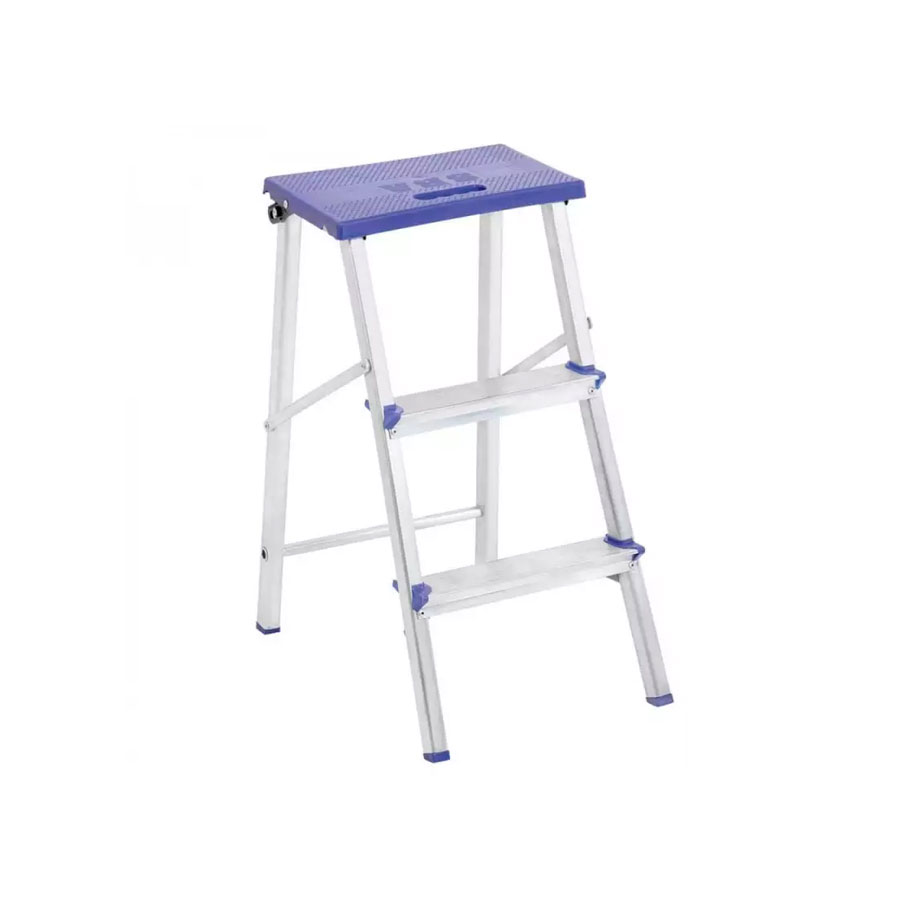 Escada Banqueta de Alumínio E1002 3 degraus – Alustep - Santa Cruz Acabamentos