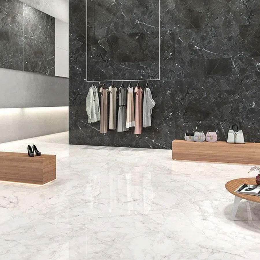 Porcelanato Infinity LC1 Retificado Black 52,7X105 Extra – Biancogres - Santa Cruz Acabamentos