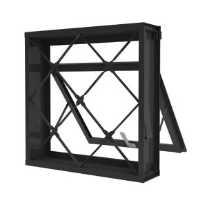 Janela de Aço Maxim-ar Romex, com Grade, 50x50cm 987007 - Ramassol