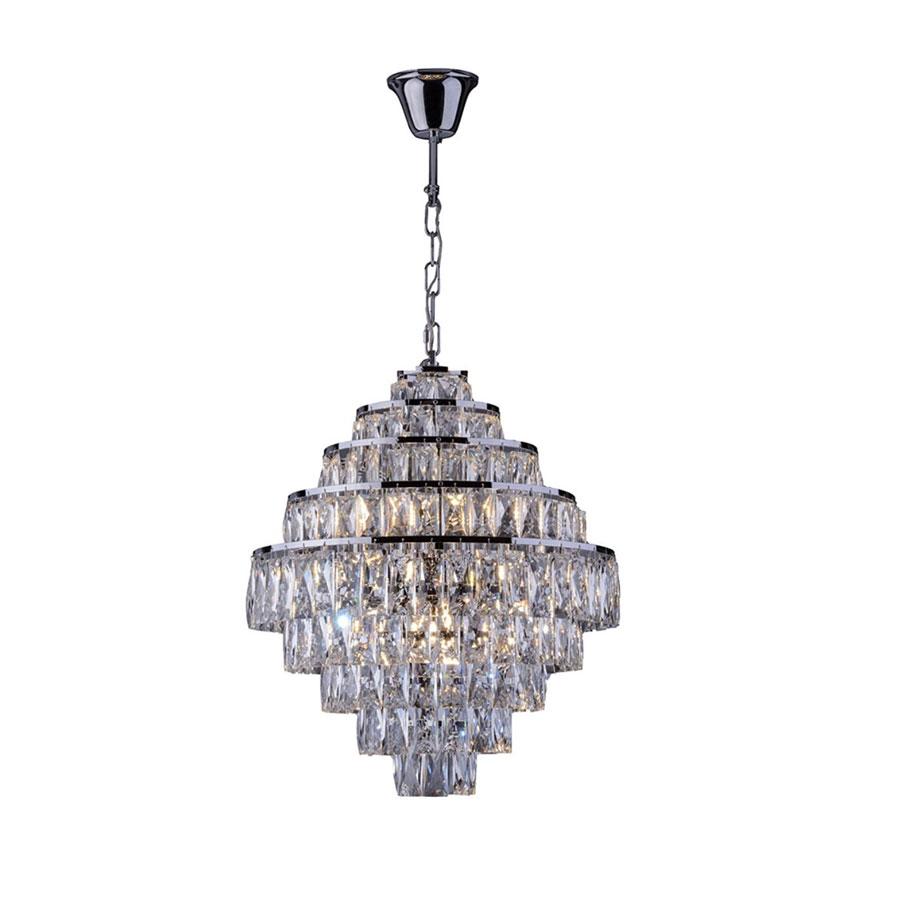 Lustre 140140017 Florença Belle 9 Lâmpadas Cromado – Startec - Santa Cruz Acabamentos