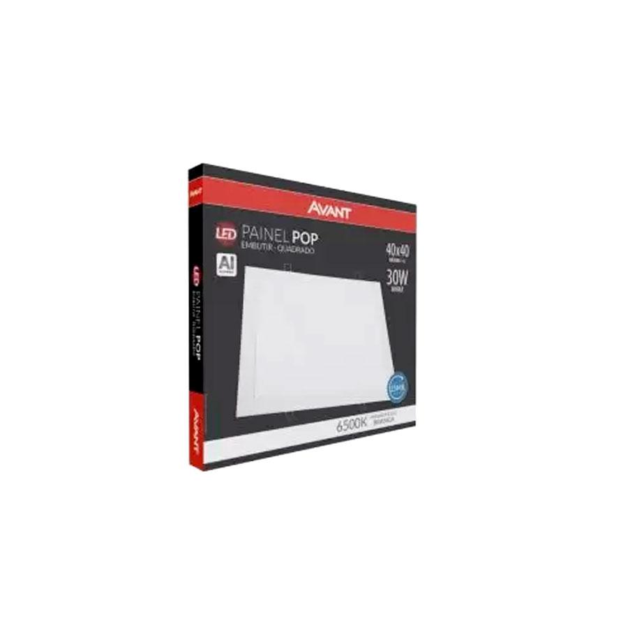 Painel Pop Led De Embutir Quadrado Luz Branca 6500K 30W Bivolt Frame – Avant - Santa Cruz Acabamentos