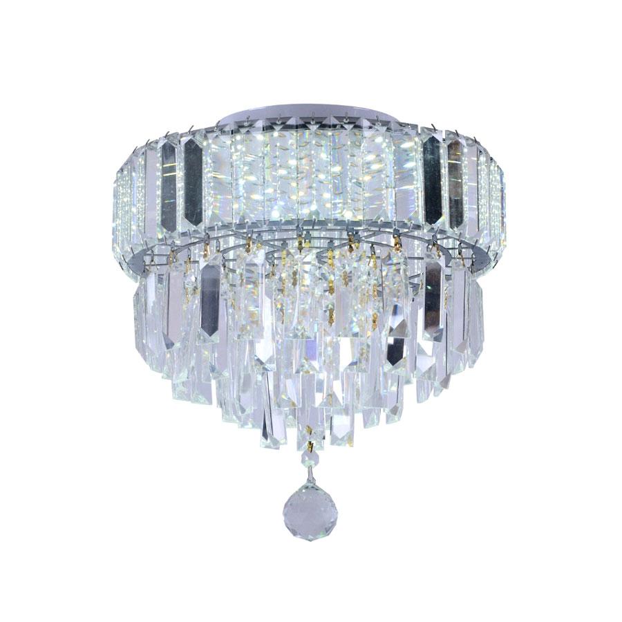 Pendente Plafon Dueto 300 4XG9 Quadrado Cristal Transparente – Taschibra - Santa Cruz Acabamentos