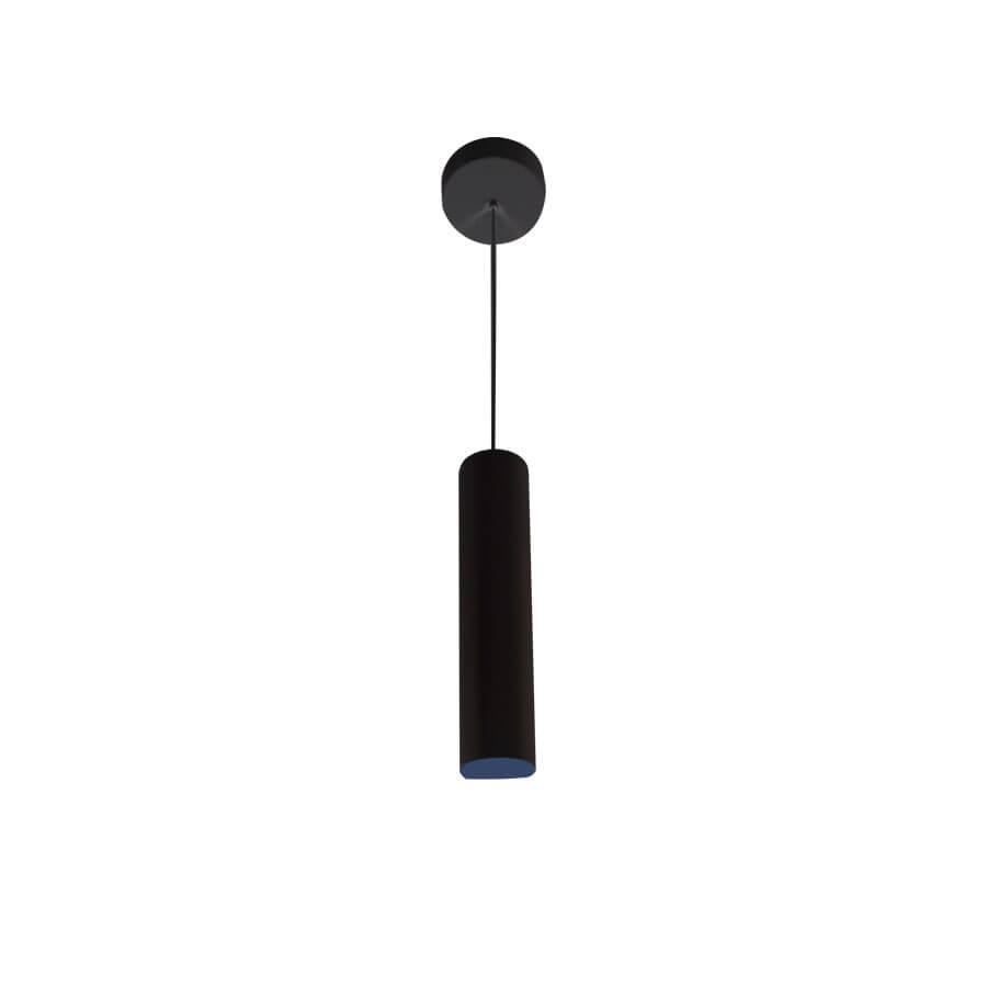 Pendente Tubular Slim 995 GU10 Preto para 1 lâmpada – Lucci - Santa Cruz Acabamentos