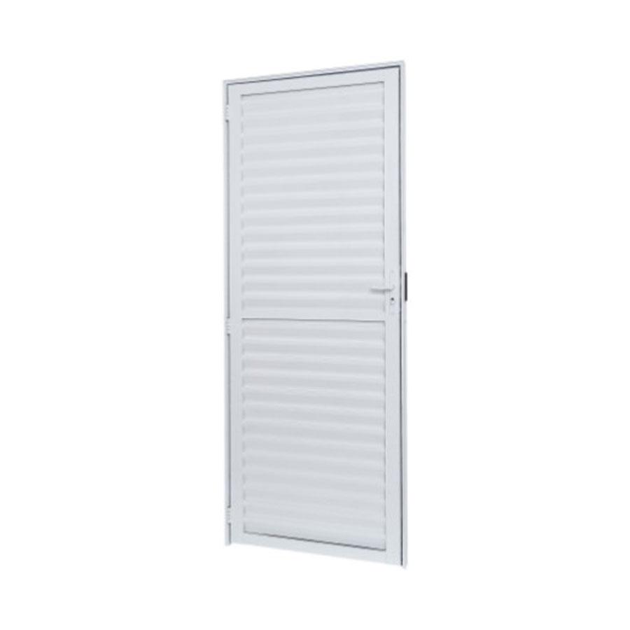 Porta Veneziana Cristal 10109 R4 Branco 70×210 Abertura Direita – Ramassol - Santa Cruz Acabamentos