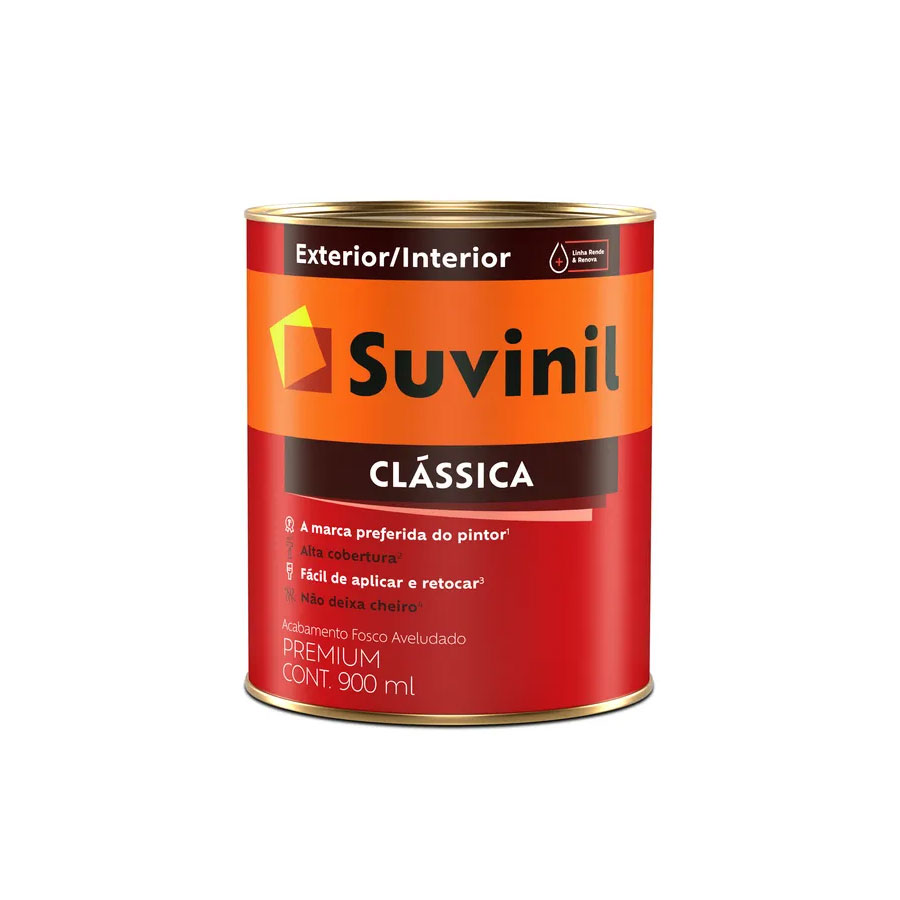 Tinta Acrílica Clássica Premium 5283 Neve 16L – Suvinil - Santa Cruz Acabamentos